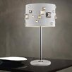 """Crystal World Shadow 4 Light 19"""" Table Lamp with Drum Shade"""