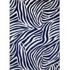Wecon Home Zebra Area Rug in Blue