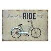 Moycor Bike Picture Vintage Advertisement Plaque