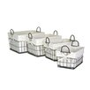 Moycor 4 Piece Fabric / Metal Small Square Basket