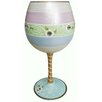 Inky and  Bozko Daisy Lace-Balloon Wine Glass