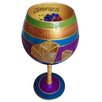 Inky and  Bozko Glitterazzi-Balloon Wine Glass