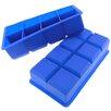 Freshware 8 Cavity Flexible Large Ice Cube Silicone Tray (Set of 2)