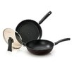Happycall Diamond 3-Piece Non-Stick Frying Pan Set with Lids