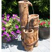 Cascading Logs Fountain - Beckett Indoor and Outdoor Fountains