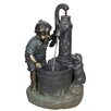 Resin Pewter Patio Fountain - Beckett Indoor and Outdoor Fountains