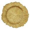 """Elegance by Leeber 13"""" Sea Sponge Charger Plate (Set of 4)"""