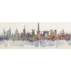 La Kasa, LLC Modern City Scenic, World Iconic Architecture Original Painting on Canvas
