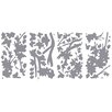 Wallhogs Gray Silhouette Blossom Branch Wall Decal