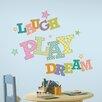 "Wallhogs ""Laugh Play Dream"" Wall Decal"