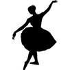 Wallhogs Ballerina Silhouette Cutout Wall Decal