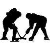 Wallhogs Hockey Silhouette Cutout Wall Decal
