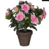 Mica Decorations Stan Azalea in Pot (Set of 2)