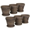Mica Decorations Stan Round Planter Set (Set of 6)