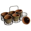 Clementine Creations 7 Piece Round Pot Planter Set