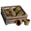 Clementine Creations 13 Piece Round Pot Planter Set
