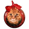 E&S Pets Tabby Christmas Ornament Shatter Proof Ball (Set of 2)
