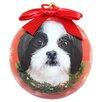 E&S Pets Shih Tzu Christmas Ornament Shatter Proof Ball (Set of 2)