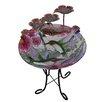 Resin Outdoor/Indoor Hand Painted Hummingbird Glass Fountain - Peaktop Indoor and Outdoor Fountains