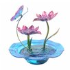 Resin Indoor Hand Painted Butterfly Glass Tabletop Water Fountain - Peaktop Indoor and Outdoor Fountains
