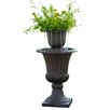 Resin Outdoor Urn Flower Pot Water Fall Fountain - Peaktop Indoor and Outdoor Fountains