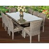 TK Classics Cape Cod 9 Piece Dining Set
