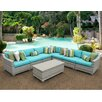 TK Classics Fairmont 8 Piece Deep Seating Group with Cushion