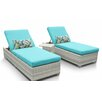 TK Classics Fairmont 3 Piece Chaise Lounge Set with Cushion