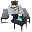 TK Classics Napa 5 Piece Dining Set with Cushion