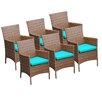 TK Classics Laguna Dining Arm Chair with Cushion (Set of 6)