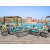TK Classics Florence Outdoor Wicker 7 Piece Deep Seating Group with Cushion