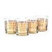 Culver Striped 11 Oz. Old Fashion Gold 22K Glass (Set of 4)