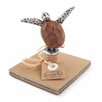 Mud Pie™ Metal and Wood Turtle Bottle Topper