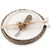 Mud Pie™ Santorini 3 Piece Fish Cheese Tray, Spreader and Willow Basket Set
