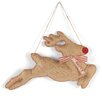 Mud Pie™ Burlap Reindeer Door Hanger