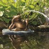 Resin Lazy Frog on Lily Pad Fountain - Aquascape Indoor and Outdoor Fountains