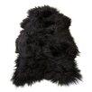 Fibre by Auskin Icelandic Pelt Black Area Rug