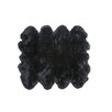 Fibre by Auskin Eight Pelt Black Area Rug