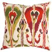 Swan Dye and Printing Ikat Bands Cotton Throw Pillow