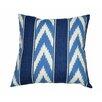 Swan Dye and Printing Ikat Stripe Outdoor Throw Pillow