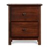 Grain Wood Furniture Shaker 2 Drawer Nightstand