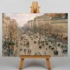 Big Box Art Boulevard Montmartre by Camille Pissaro Art Print on Canvas