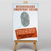 Big Box Art Fingerprint Station Vintage Advertisement on Canvas
