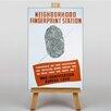 Big Box Art Leinwandbild Fingerprint Station, Retro-Werbung