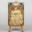 "Big Box Art Leinwandbild ""Champagne"" von Alphonse Mucha, Grafikdruck"