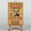Big Box Art Texas Steer Sandwich Vintage Advertisement on Canvas