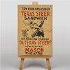 Big Box Art Leinwandbild Texas Steer Sandwich, Retro-Werbung