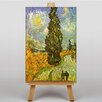 Big Box Art Cypress Road by Vincent Van Gogh Art Print on Canvas