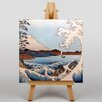 "Big Box Art Leinwandbild ""Japanese Oriental View of Mt Fuji"" von Utagawa Hiroshige, Kunstdruck"