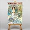 "Big Box Art Leinwandbild ""Monaco Monte Carlo"" von Alphonse Mucha, Retro-Werbung"
